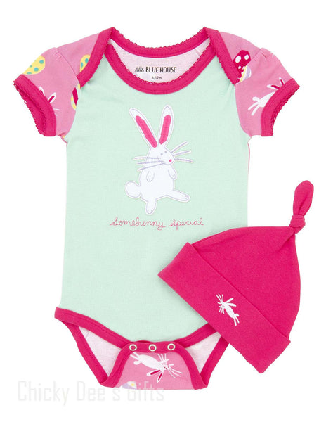 Hatley Infant One Piece Bunnies & Easter Eggs baby onesie - Chicky Dee's Gifts - 1