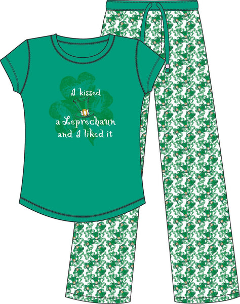 MCCC Sportswear I Kissed Leprechaun Liked It Women's PJ Irish St. Patrick's Day - Chicky Dee's Gifts