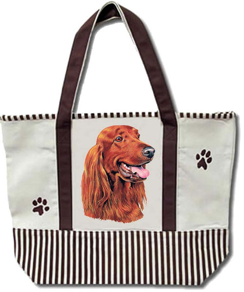 Tote Bag - Irish Setter - Heavy Duty Canvas - Shopping Grocery - Dog - Chicky Dee's Gifts