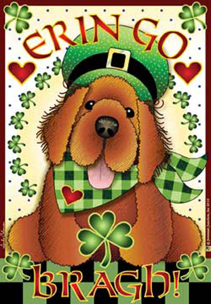 Jeremiah Junction Magnet Irish Setter dog puppy Erin Go Bragh - Chicky Dee's Gifts