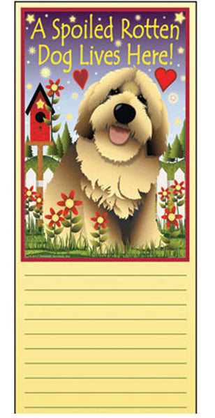 Jeremiah Junction  Magnet Memo Pad Spoiled Dog Lives Here puppy dog note - Chicky Dee's Gifts