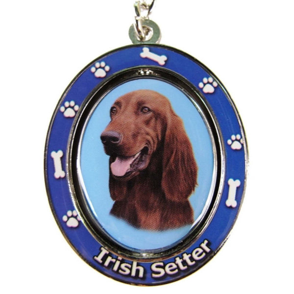 Irish Setter Spinning Key Chain Fob dog - Chicky Dee's Gifts