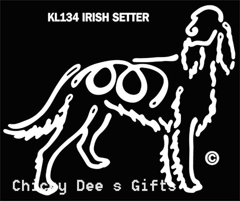 Pet Gifts USA K-Lines Irish Setter Window Cling Tattoo - Chicky Dee's Gifts