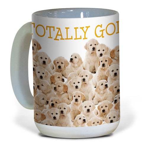 Tree-Free Greetings Golden Retrievers  15oz Capacity Ceramic Mug