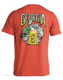 Live Oak Brand License Plate Peach State of Georgia Unisex Pocket Tee Shirt T-Shirt - Chicky Dee's Gifts - 1