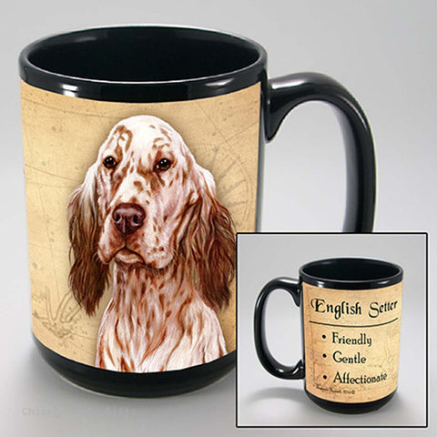 Pet Gifts USA English Setter My Faithful Friend 15 oz Mug Orange & White - Chicky Dee's Gifts
