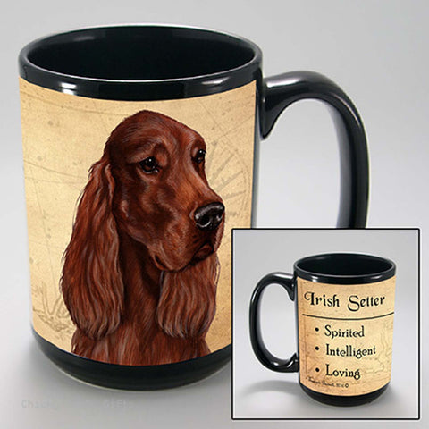 Pet Gifts USA Irish Setter My Faithful Friend 15 oz Mug - Chicky Dee's Gifts