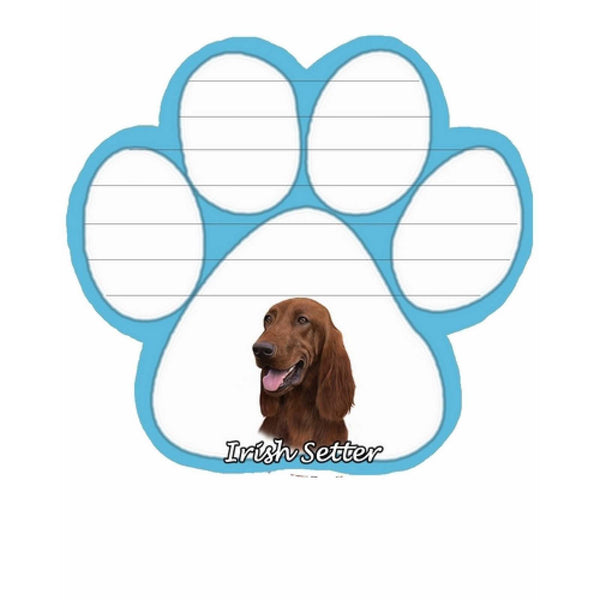 Irish Setter Paw Magnetic Note Pad dog - Chicky Dee's Gifts