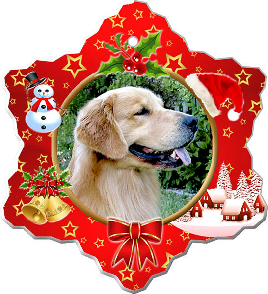 Canine Designs Golden Retriever in Garden Porcelain Ornament