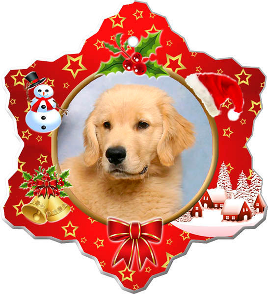 Canine Designs Golden Retriever Puppy Porcelain Ornament