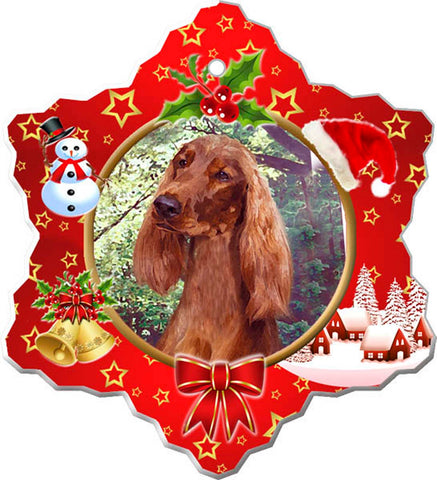 Canine Designs Irish Setter Porcelain Ornament female