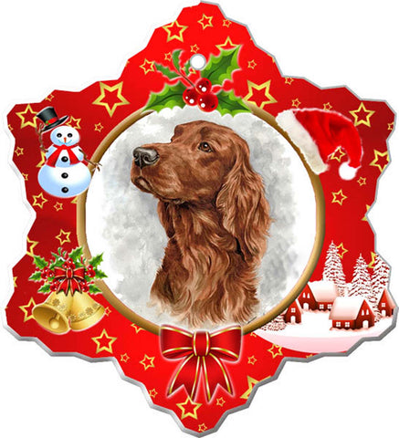Canine Designs Irish Setter Porcelain Ornament male