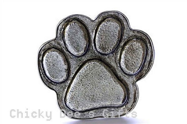 Grillie Paw Print Grille Ornament for Car Truck grill dog cat grillies hood - Chicky Dee's Gifts - 1