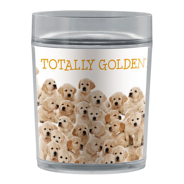 Tree-Free Greetings Golden Retrievers 14 oz Resort Tumbler