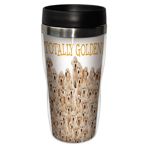 Tree-Free Greetings Golden Retrievers  16 oz Travel Mug
