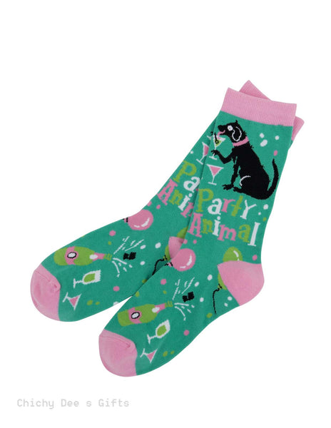 Hatley Women s Crew Socks PARTY ANIMAL dog