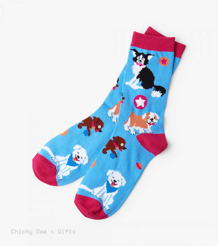 Hatley Women s Crew Socks CUTE PUPS dog