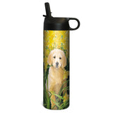 Tree-Free Greetings Golden Puppy 17 oz Sportiva Tumbler w Straw