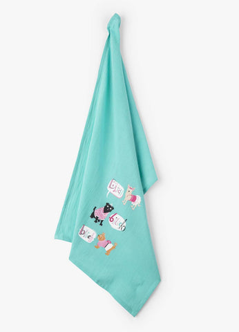 Little Blue House by Hatley Tea Flour Sack Towel BITCH BITCH BITCH kitchen Dog