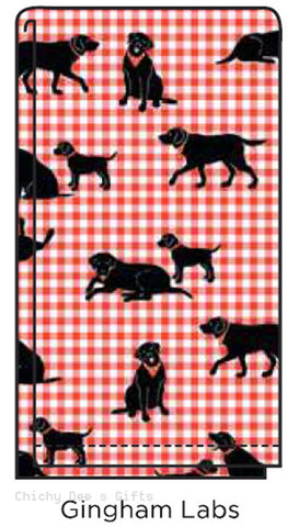 Hatley Flour Sack Tea Towel GINGHAM LABS kitchen Labrador Retriever Dog