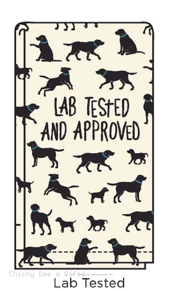 Hatley Flour Sack Tea Towel LAB TESTED AND APPROVED kitchen Labrador Retriever Dog