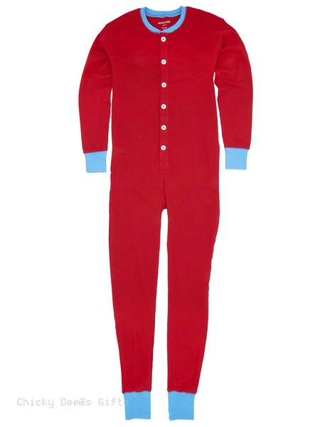 Hatley Adult Men Union Suit Red Ski Bum Long Underwear - Chicky Dee's Gifts - 1