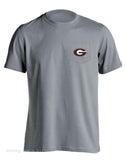 Live Oak Brand UGA University of Georgia Vintage Flag Unisex Pocket Tee Shirt T-Shirt - Chicky Dee's Gifts - 2