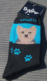 SOXETEER YORKSHIRE TERRIER YORKIE Ladies Novelty Socks dog - Chicky Dee's Gifts - 1