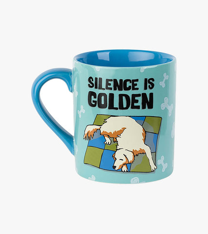 Hatley Ceramic Mug SILENCE IS GOLDEN  14 oz Retriever dog