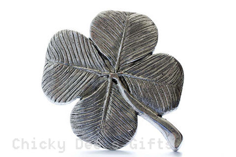 Grillie Shamrock 4 Leaf Clover Grill Ornament for Car Truck grill hood Irish - Chicky Dee's Gifts - 1