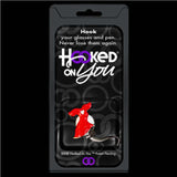 Hooked on You Red Dress Heart Disease Awareness Eye Glasses Holder Accessory - Chicky Dee's Gifts - 1