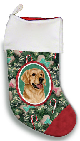 Best of Breed Christmas Stocking GOLDEN RETRIEVER  by Tamara Burnett