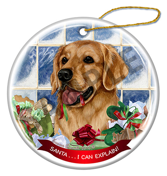 Pet Gifts USA Golden Retriever Christmas Ornament   I Can Explain