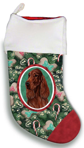 Best of Breed Christmas Stocking IRISH SETTER  by Tamara Burnett