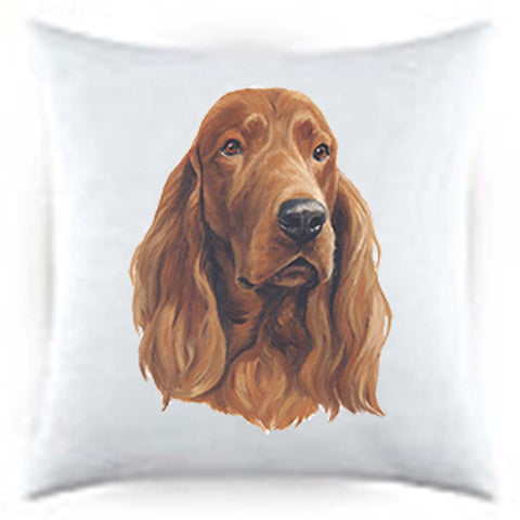 Best of Breed Satin Throw Pillow  IRISH SETTER