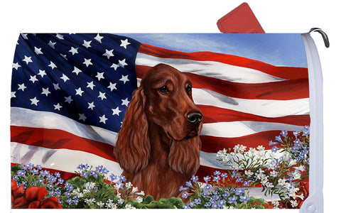 Best of Breed Mailbox Cover IRISH SETTER Patriotic by Tamara Burnett