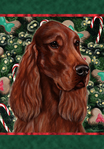 Best of Breed Garden Flag IRISH SETTER Christmas Holiday Treats by Tamara Burnett