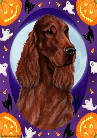 Best of Breed Garden Flag IRISH SETTER Halloween Howls by Tamara Burnett