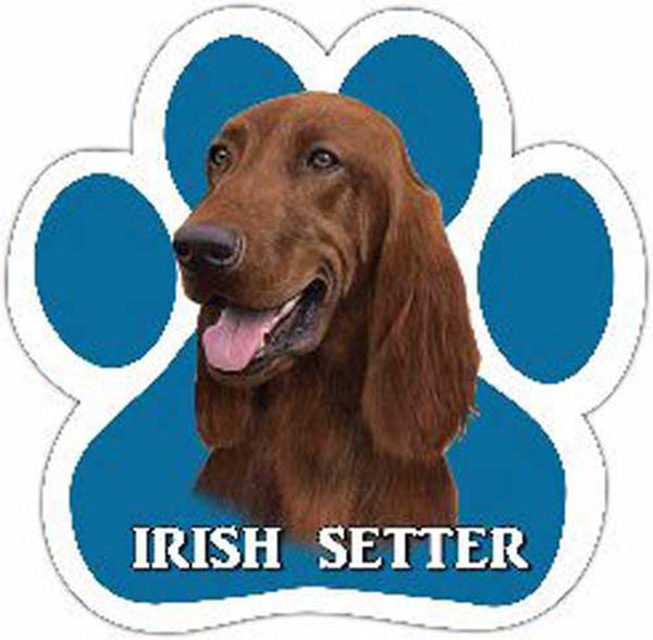 Irish Setter Paw Car Magnet dog - Chicky Dee's Gifts