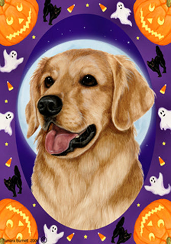 Best of Breed Garden Flag GOLDEN RETRIEVER Halloween Howls by Tamara Burnett