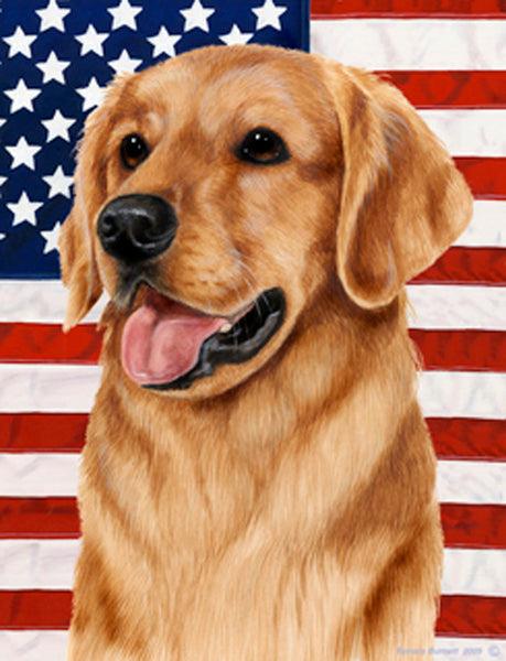 Best of Breed Garden Flag GOLDEN RETRIEVER Patriotic by Tamara Burnett