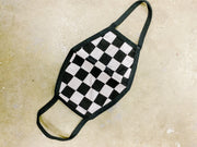 Accessories - Black And White Check 2 Layer Mask