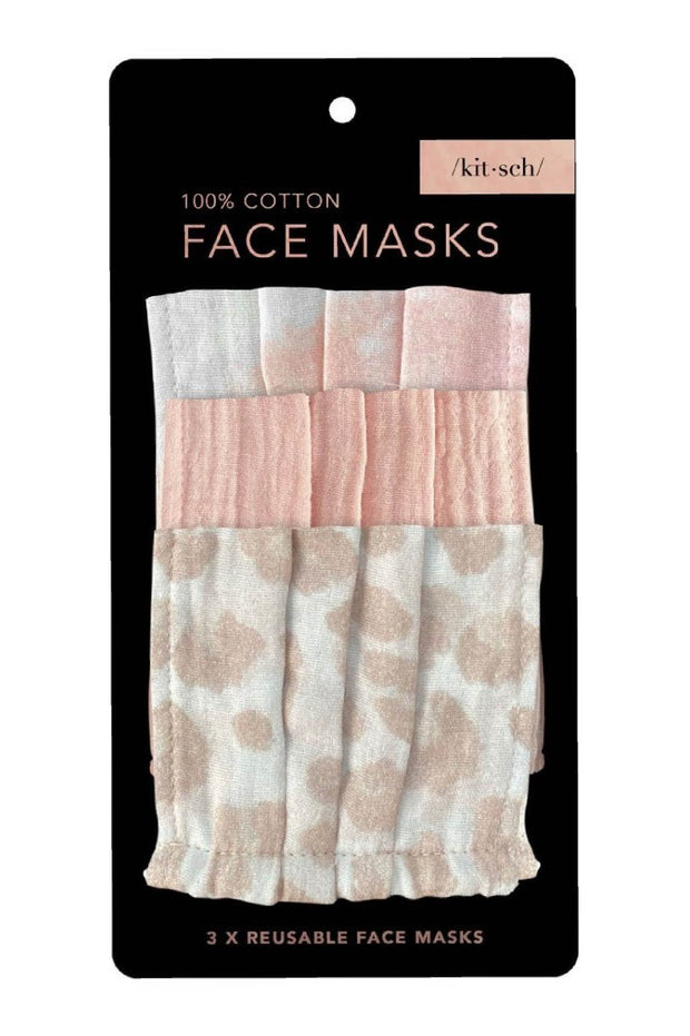 Accessories - Cotton Mask 3pc Set - Blush
