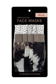Accessories - Cotton Mask 3pc Set - Neutral