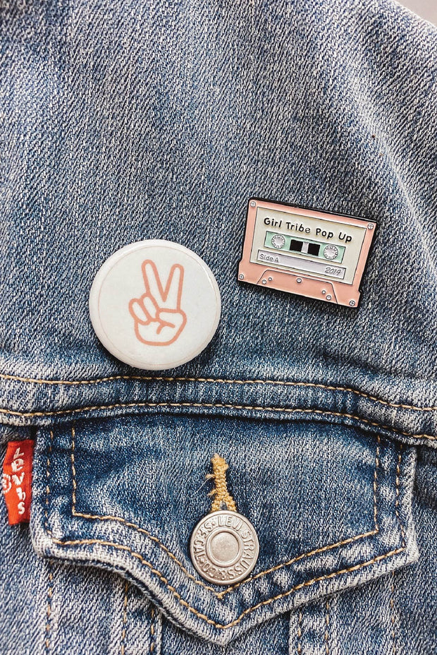 Accessories - Girl Tribe Pop Up Mixtape Enamel Pin (4263489863734)