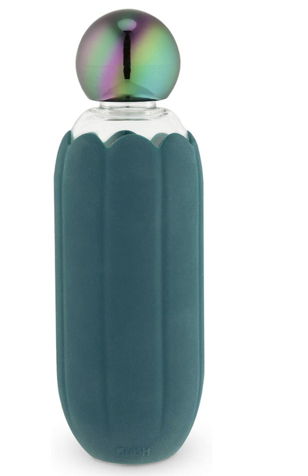 Accessories - Gold Cap Water Bottle In Blue By Blush