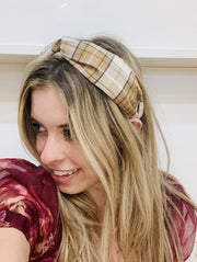 Accessories - Tan Plaid Headband