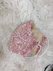 Accessories - The Rita Sequin Mask In Pink