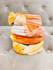 Accessories - Tie Dye Top Knot Headband In Orange