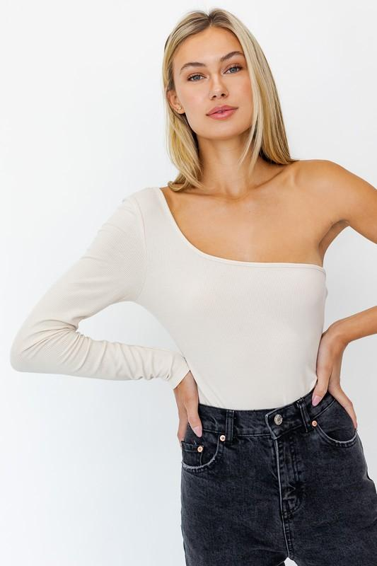 Blouse - The Gemma Bodysuit In Taupe